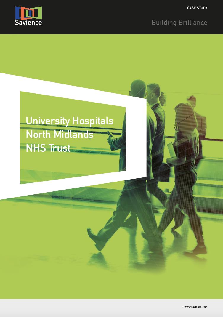 University Hospitals North Midlands Case Study