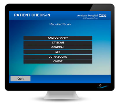 Outpatient Clinic Management check-in screen